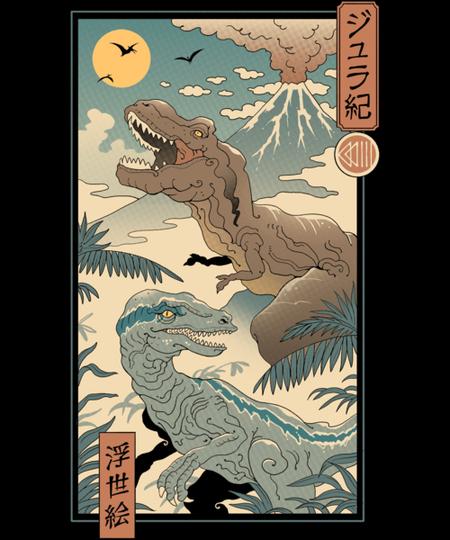 Qwertee: Jurassic Ukiyo-e 2