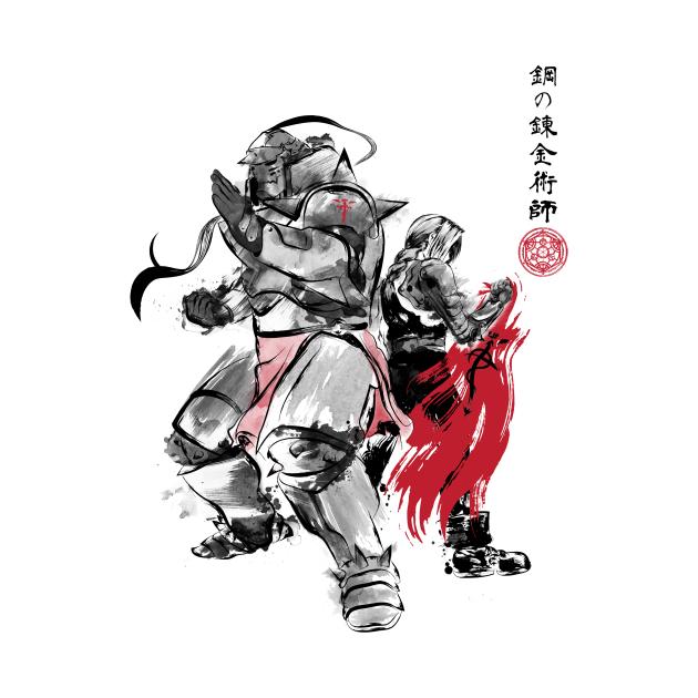 TeePublic: Brotherhood Sumi-e