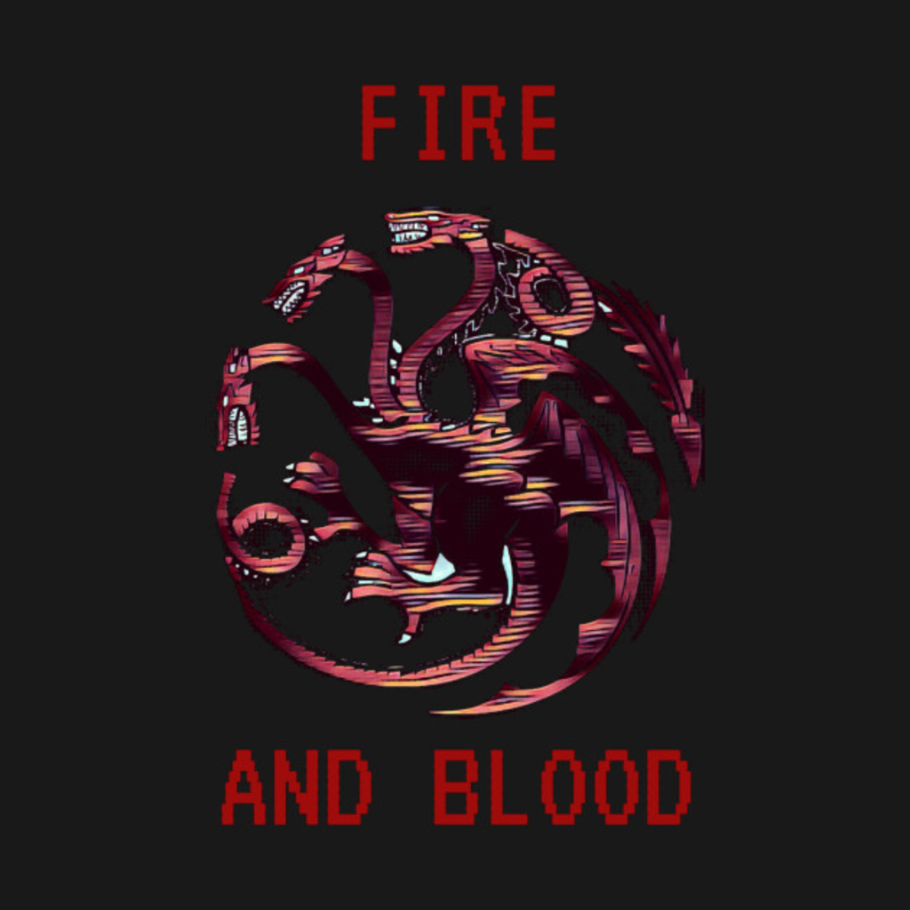 TeePublic: Throne Games - 8-Bit Dragon