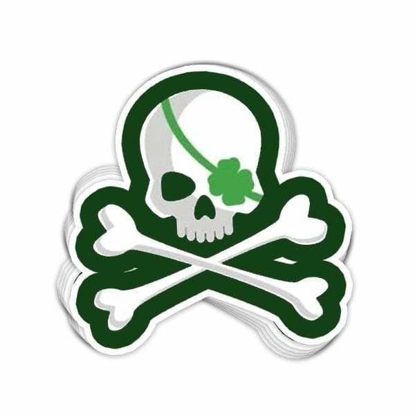 BustedTees: Irish Pirate Vinyl Sticker