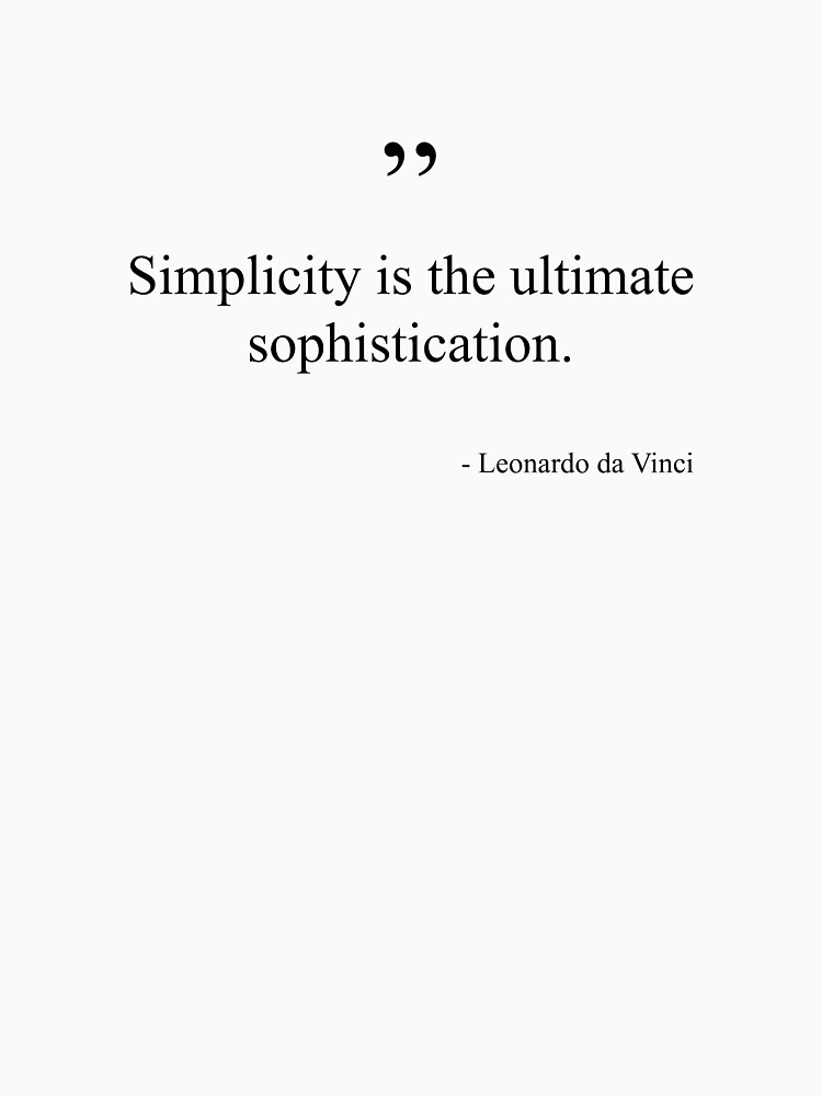 RedBubble: Leonardo da Vinci Quote