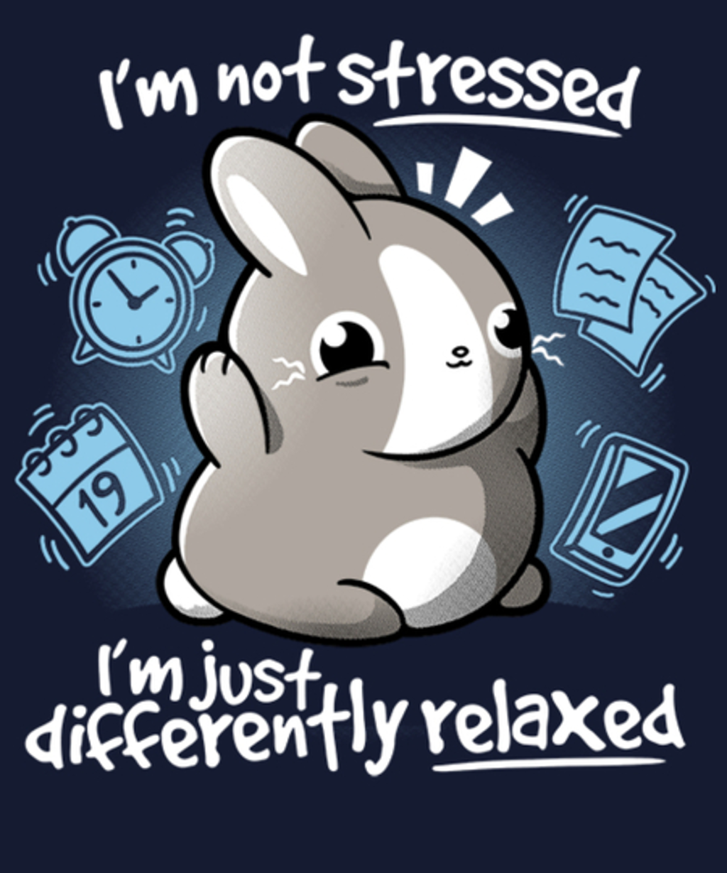 Qwertee: Stressed bunny