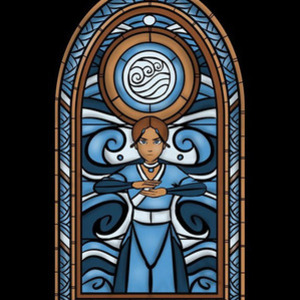 Once Upon a Tee: Stained Glass: Water
