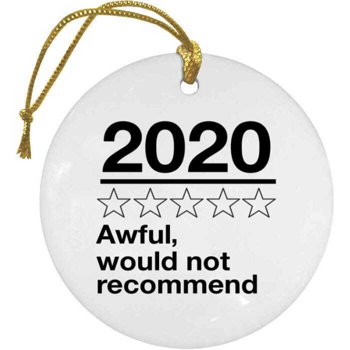 BustedTees: Awful 2020 Christmas Ornament