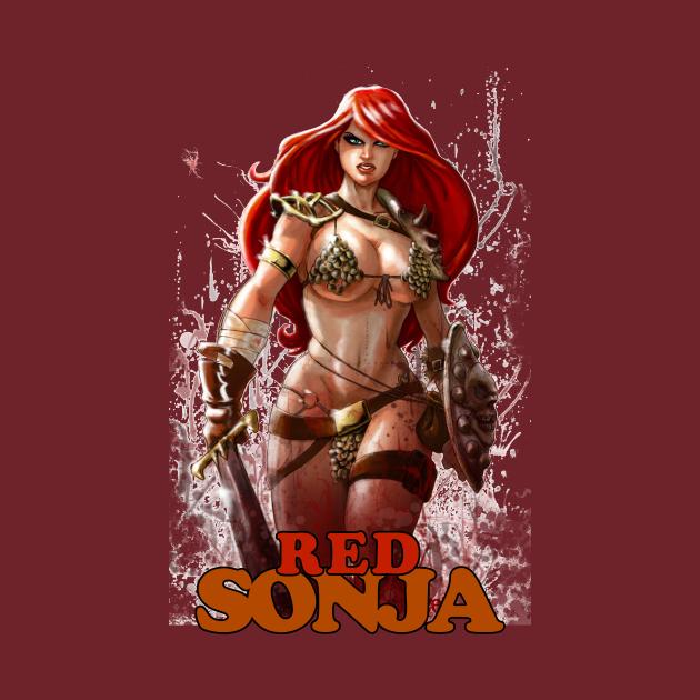 TeePublic: lady in Red