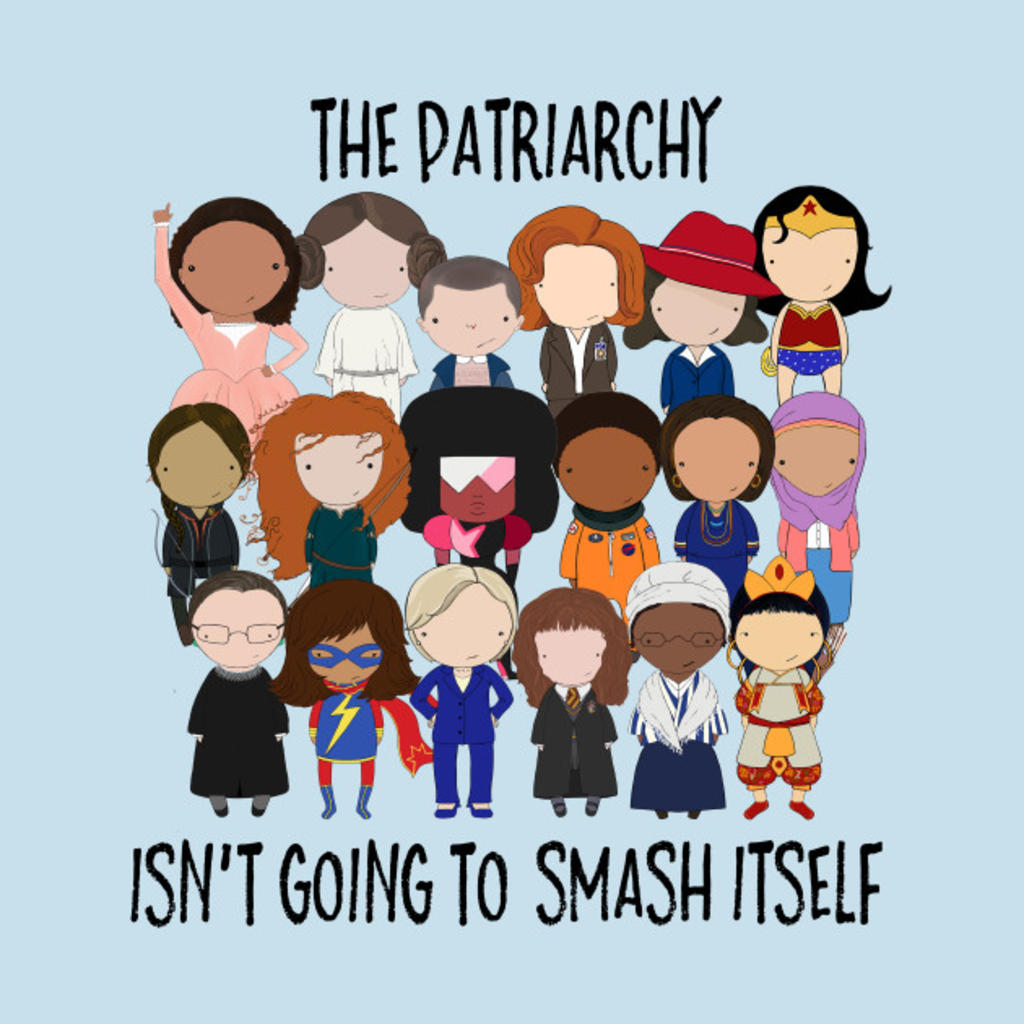 TeePublic: Patriarchy, SMASH