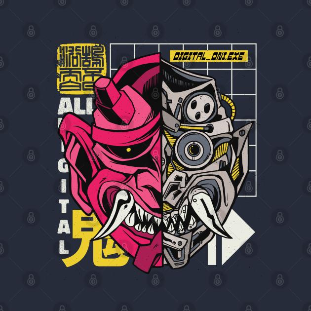 TeePublic: ONI JAPANESE DEMON CYBORG