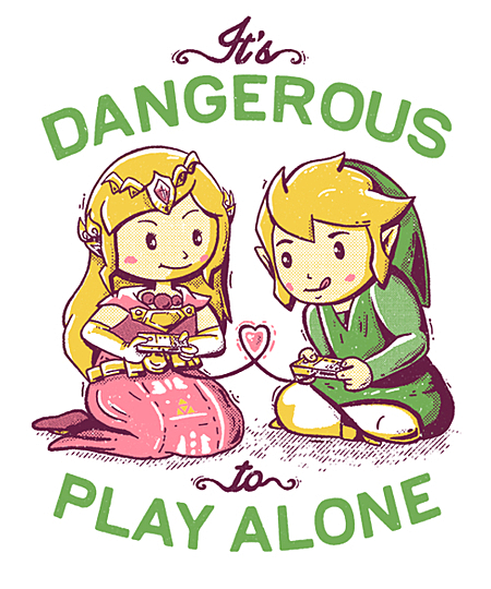 Qwertee: Dangerous to Play Alone