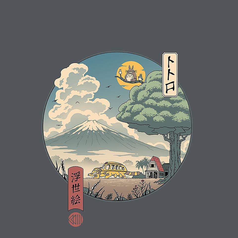TeeFury: Neighbor's Ukiyo-E