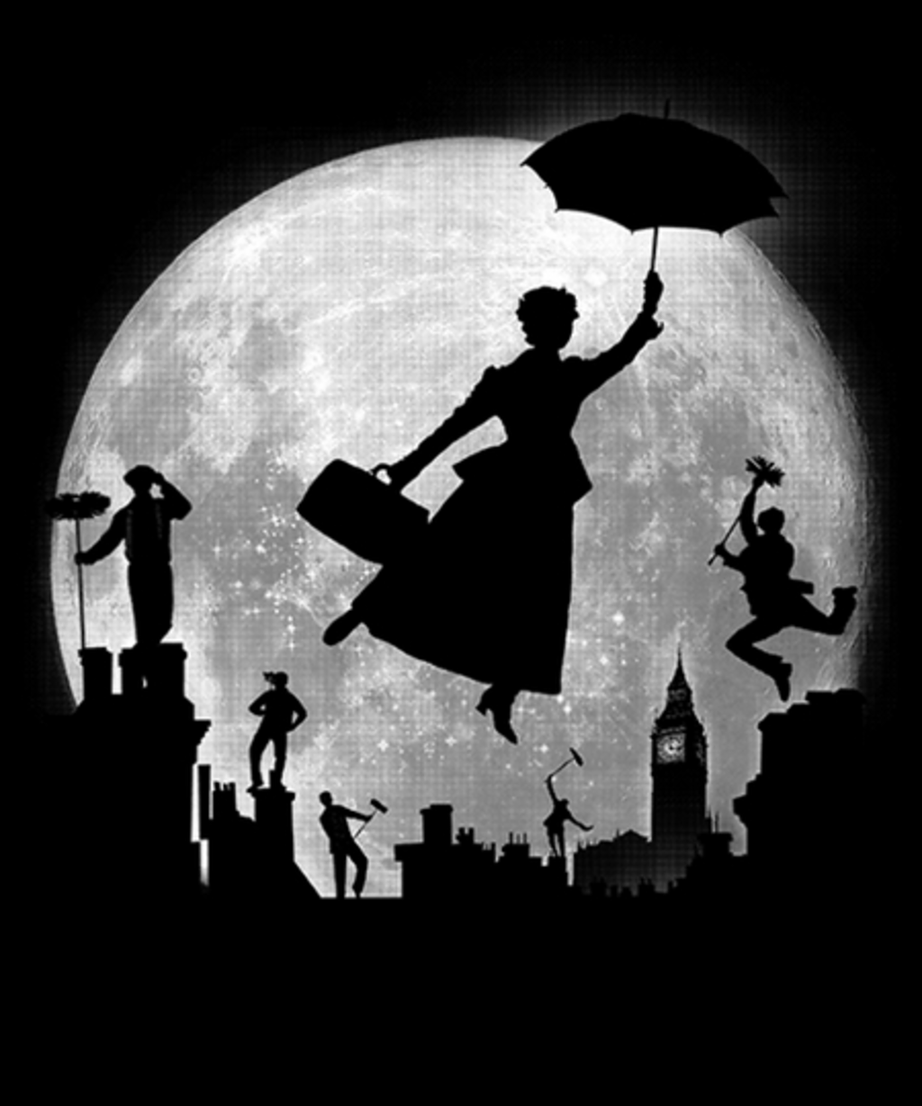 Qwertee: Full Moon Over London Rooftops