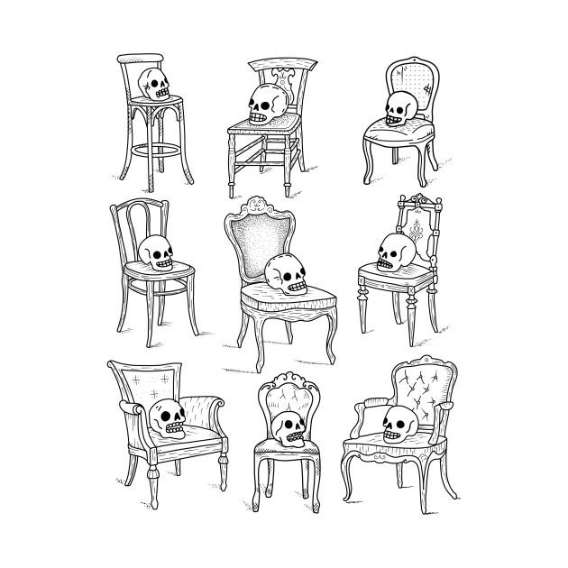 TeePublic: Skull chairs