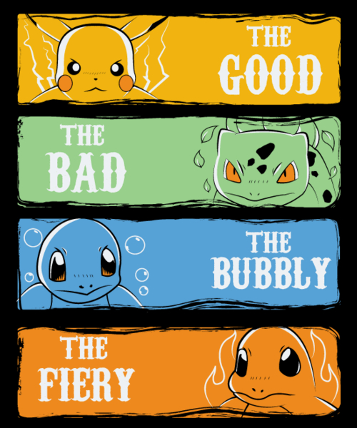 Qwertee: The Good The Bad The Bubbly & The Fiery