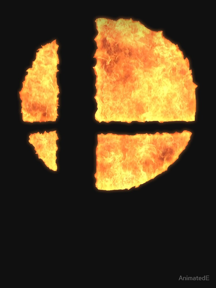 RedBubble: Fiery Smash Ball - Super Smash Bros Switch