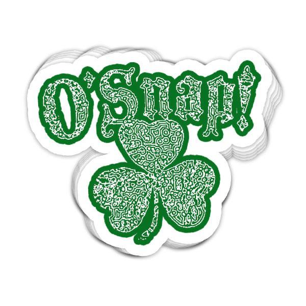 BustedTees: O'Snap Irish Shamrock Vinyl Sticker