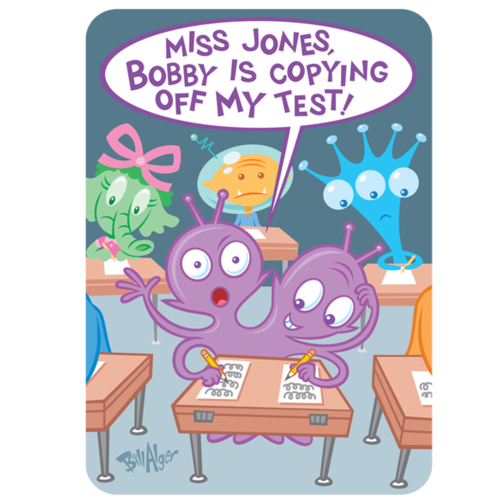 "NeatoShop: ""Miss Jones, Bobby Is Copying Off My Test!"""