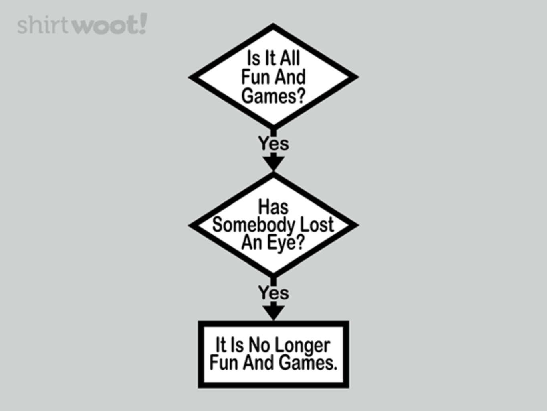 Woot!: Flowchart of Life: Fun & Games - $8.00 + $5 standard shipping