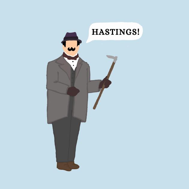 TeePublic: Hastings! -Poirot