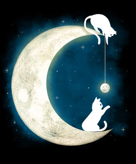 Qwertee: Moon Cat