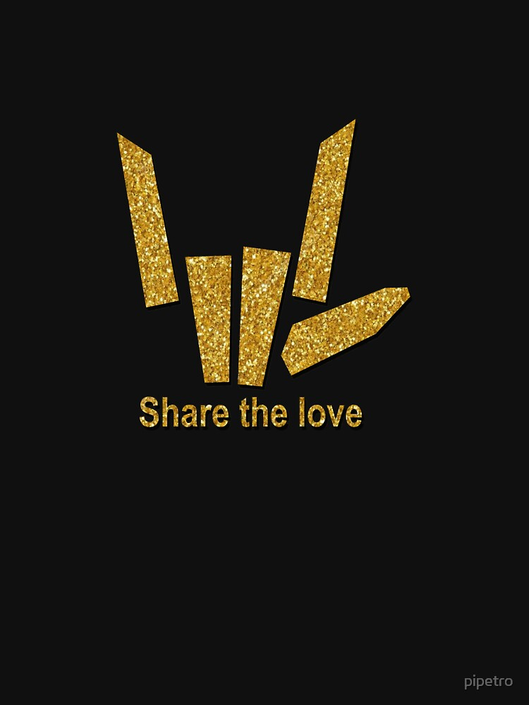 RedBubble: Share The Love Gold Trending Apparel