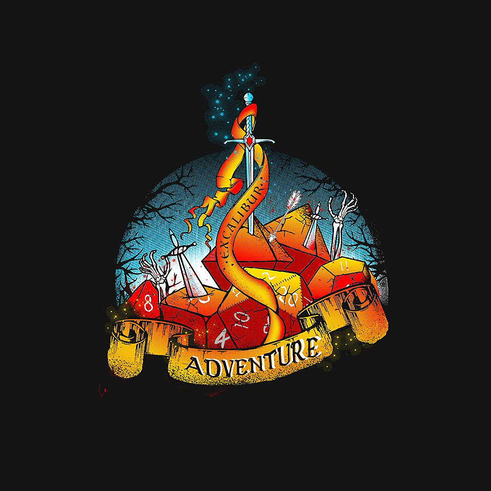 TeeFury: Roll For Adventure