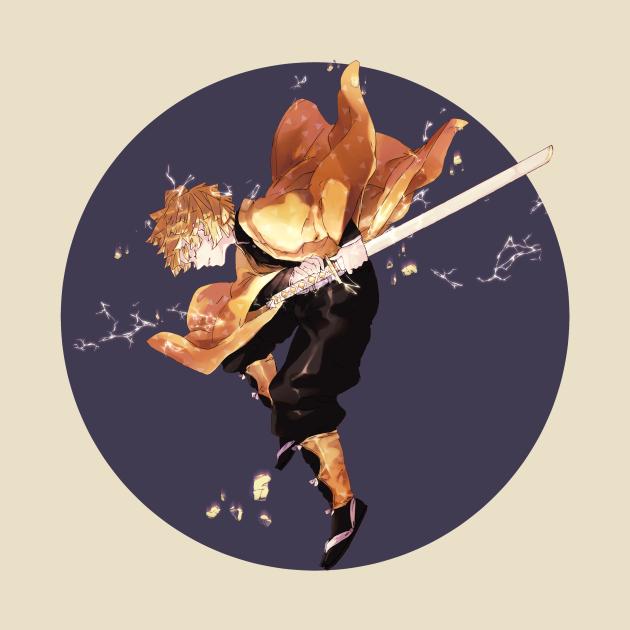 TeePublic: Demon Slayer-Kimetsu no Yaiba - Zenitsu Agatsuma