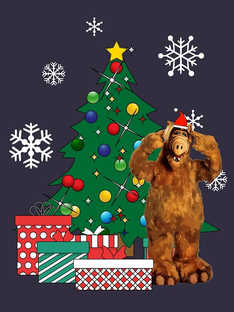 RedBubble: Alf Around The Christmas Tree