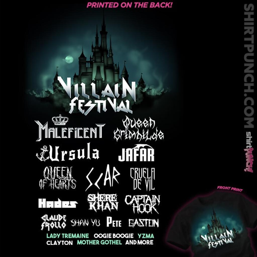 ShirtPunch: Villains Festival