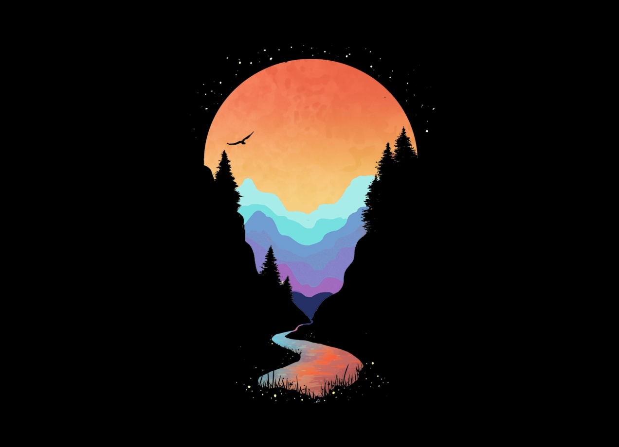 Threadless: Mountain Stream