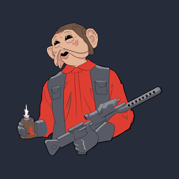 TeePublic: Nien Nunb - Battlefront Version - No Laugh T-Shirt