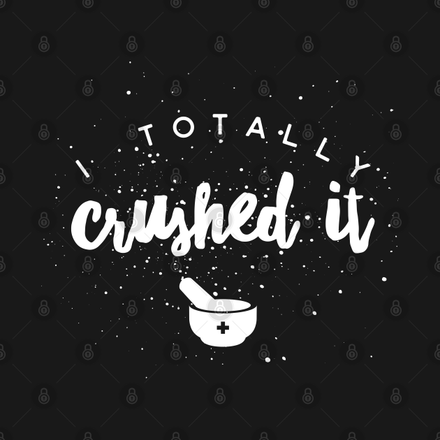 TeePublic: I totally crushed it, spattered white