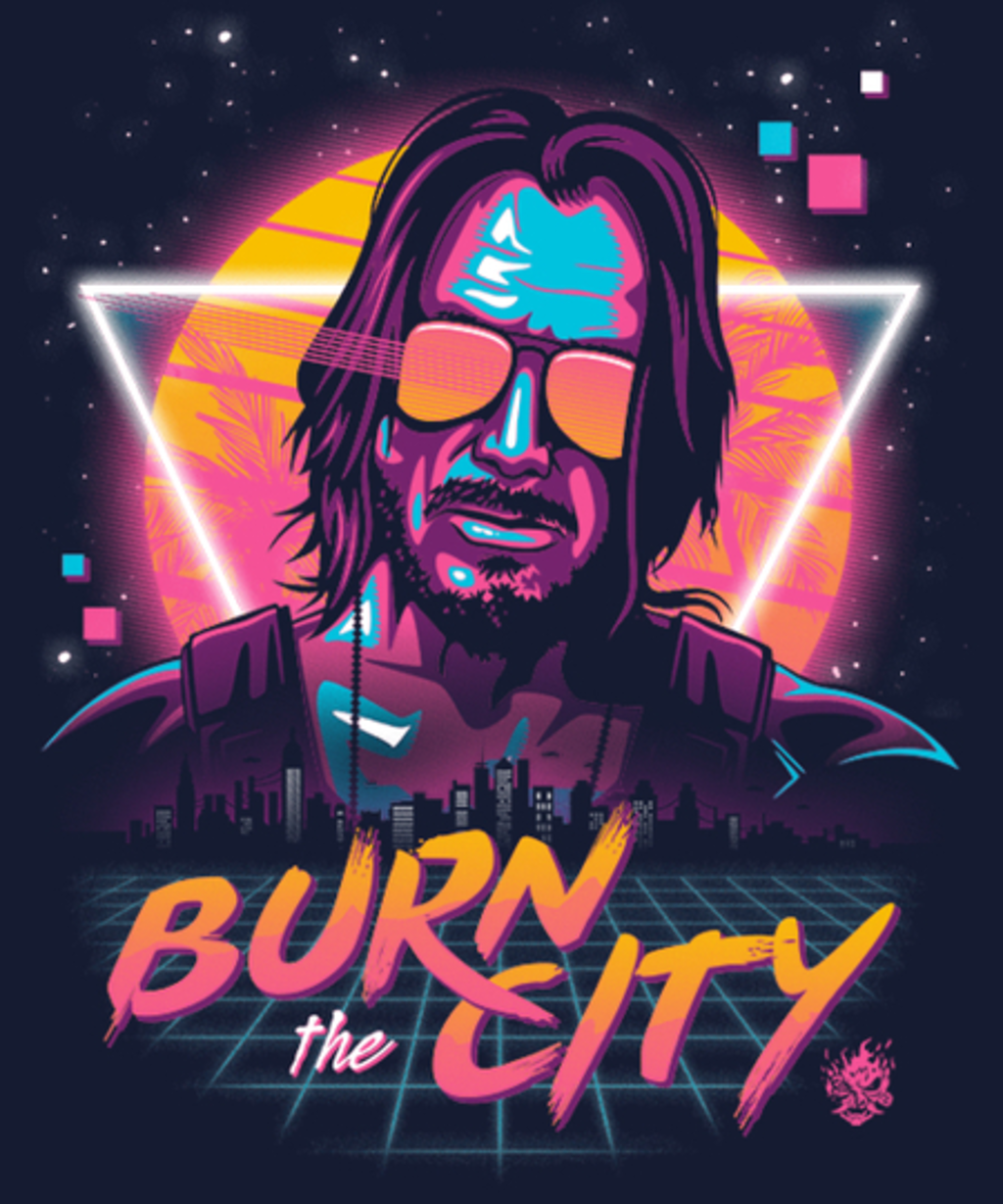 Qwertee: Burn the City