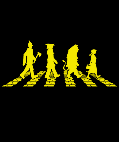 Qwertee: Yellow Brick Abbey Road