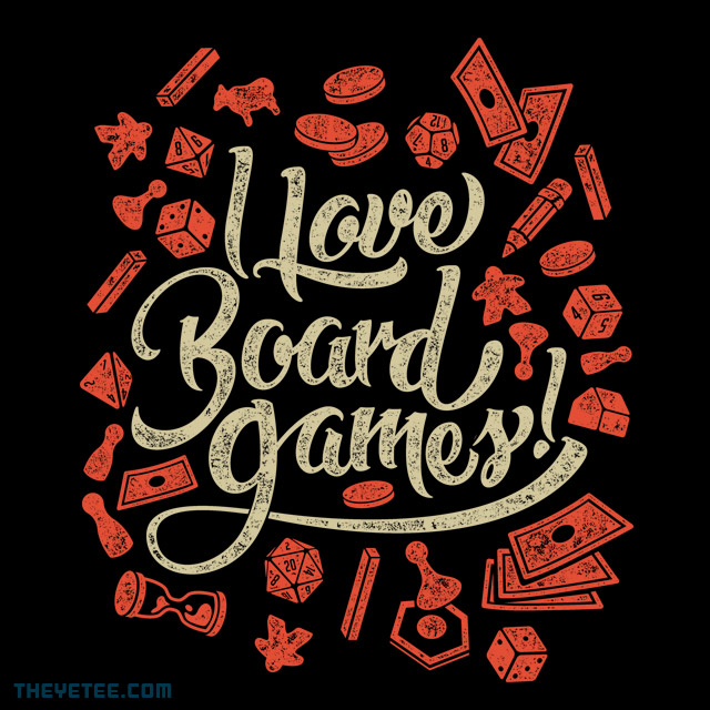 The Yetee: I love Board Games