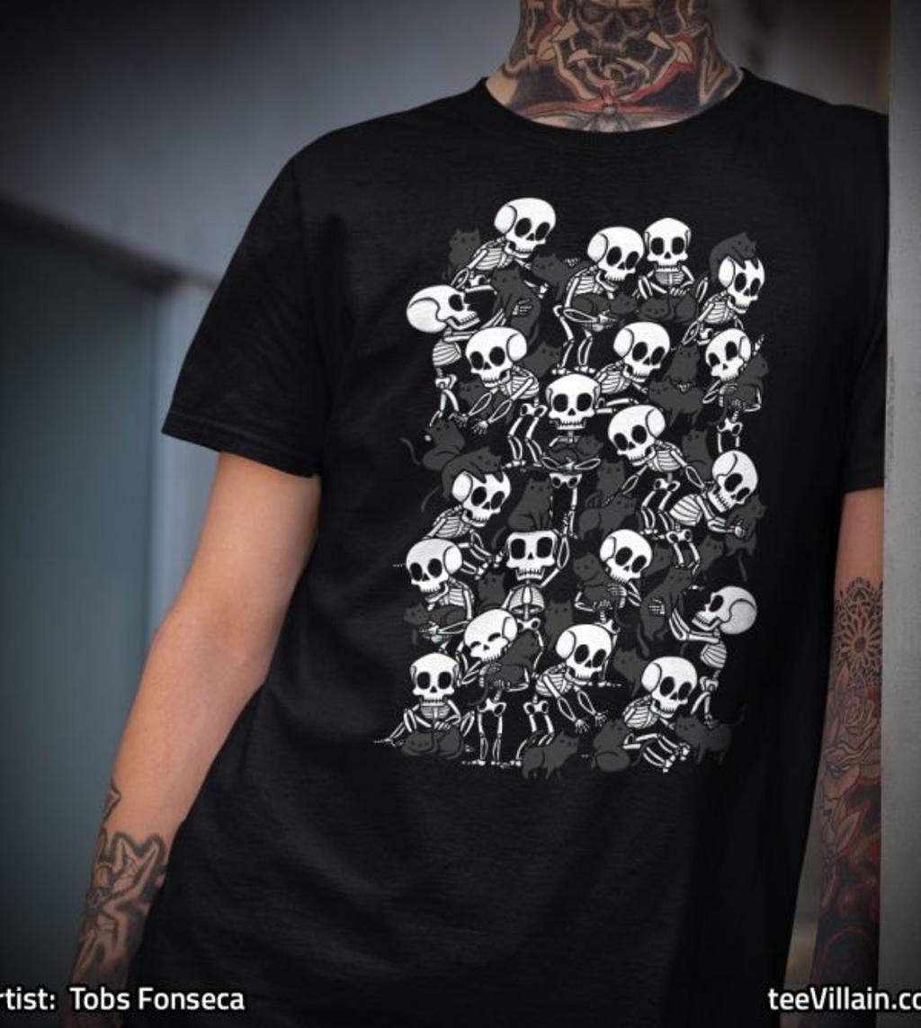 teeVillain: Skull Cat Party