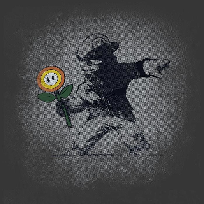 Once Upon a Tee: Banksy Flower