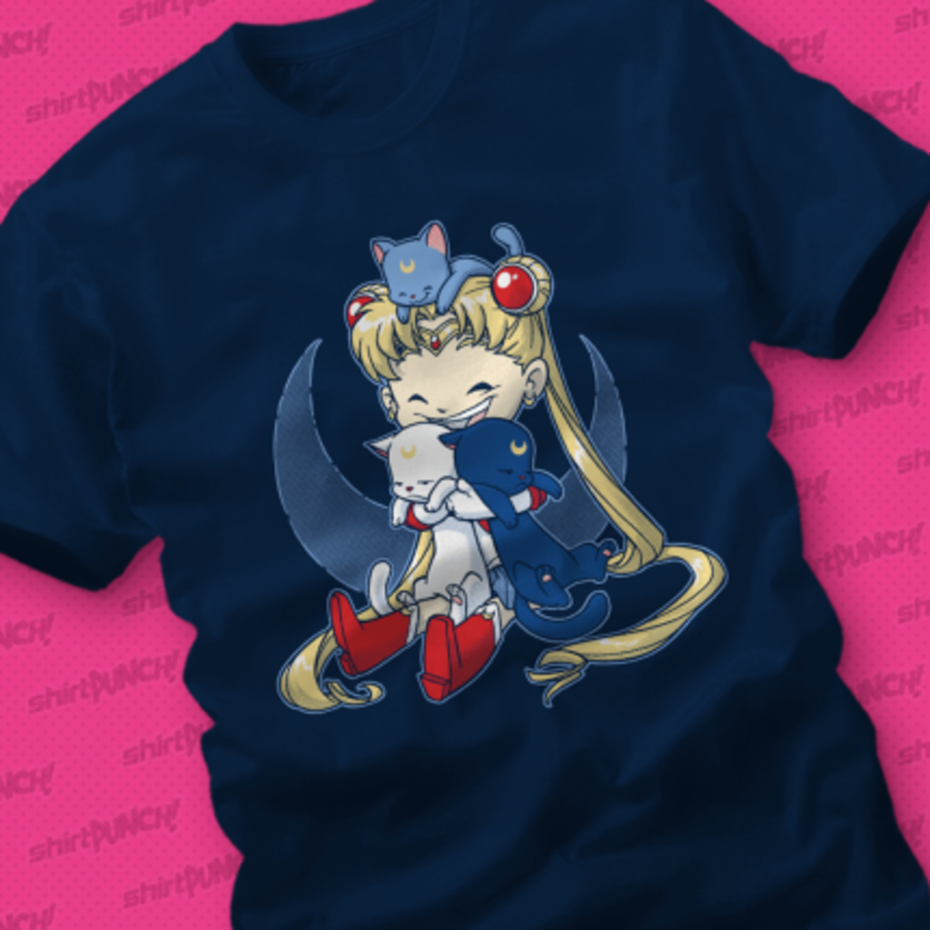 ShirtPunch: Crazy Moon Cat Lady
