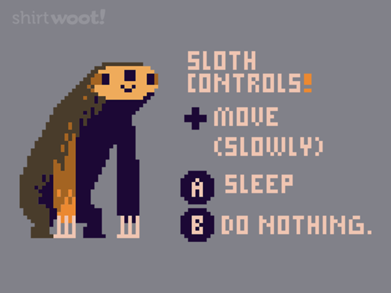 Woot!: Sloth Video Game Controls