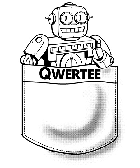 Qwertee: Limited Edition Pocketbot!