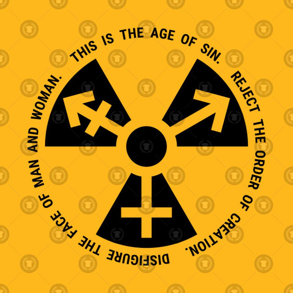 TeePublic: Trans Radiation - Papal Text - Black