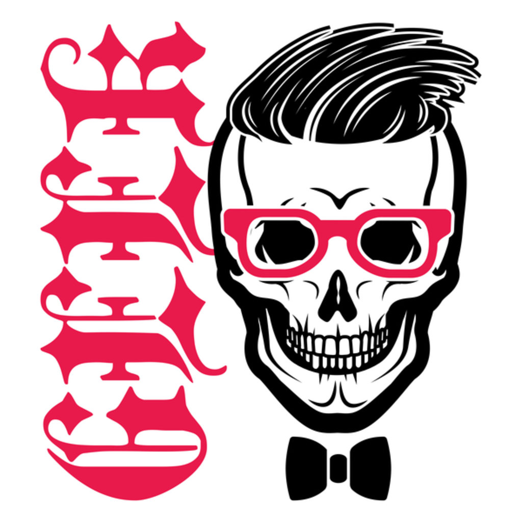 NeatoShop: Hipster Geek Skull