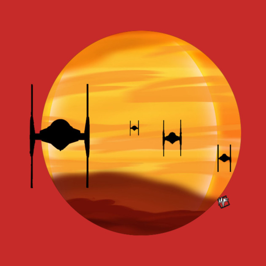 TeePublic: Tie Fighter Sunset( Star Wars  Episode 7) T-Shirt