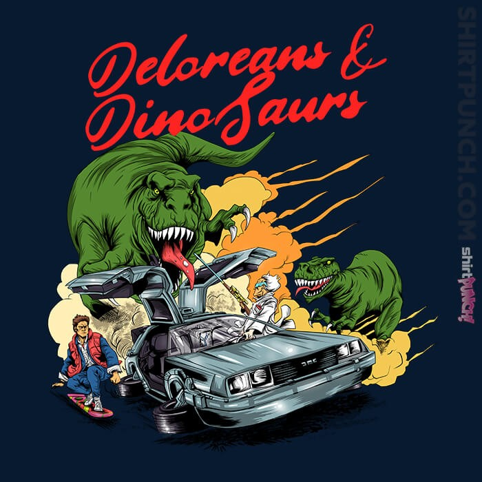 ShirtPunch: Deloreans & Dinosaurs