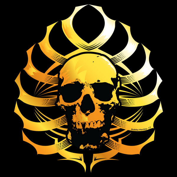 NeatoShop: Skull-Ribs Tribal        (GOLD)