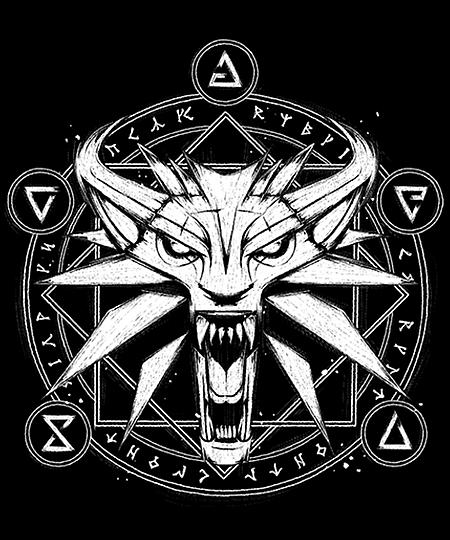 Qwertee: Wolf Medallion