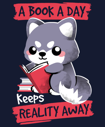 Qwertee: Booked wolf