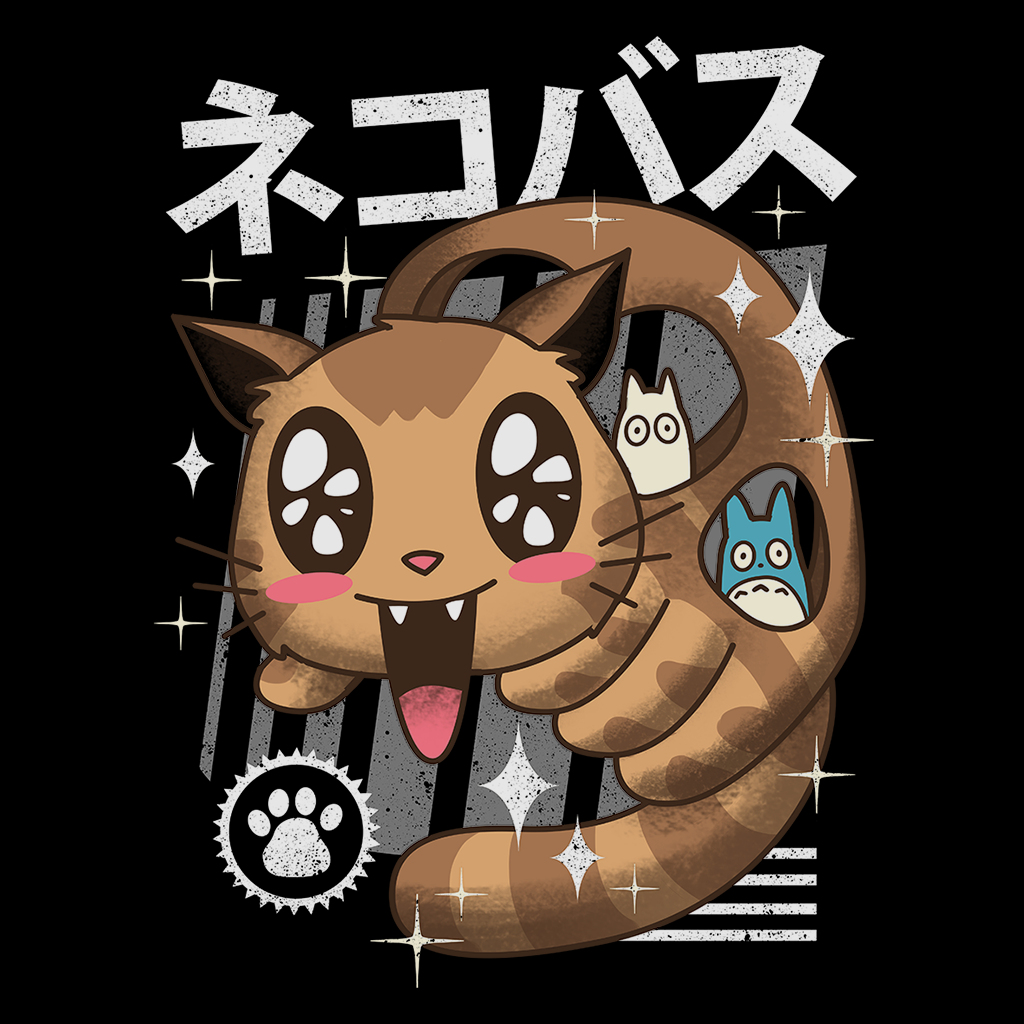 Pop-Up Tee: Kawaii Nekobasu