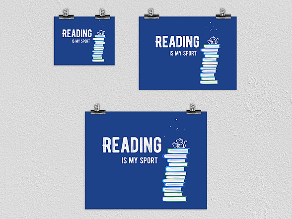 Woot!: Reading Is My Sport Poster
