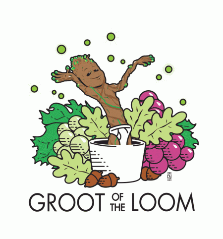 BustedTees: Groot of the Loom
