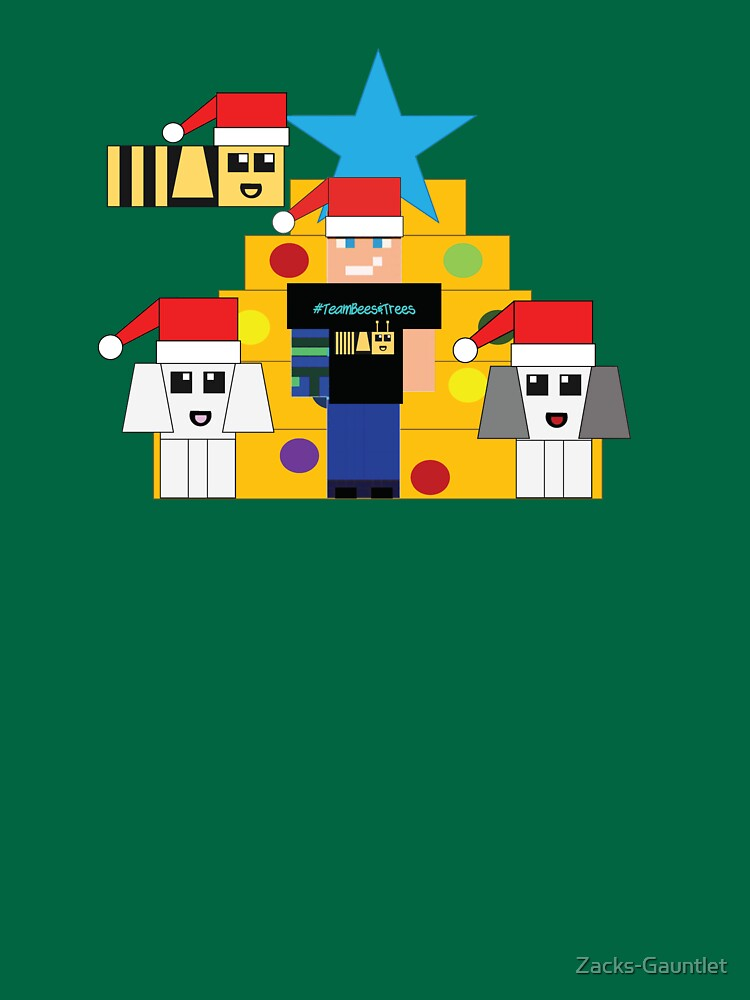 RedBubble: Zacks Gauntlet Team Bees & Trees Merry Christmas 2020