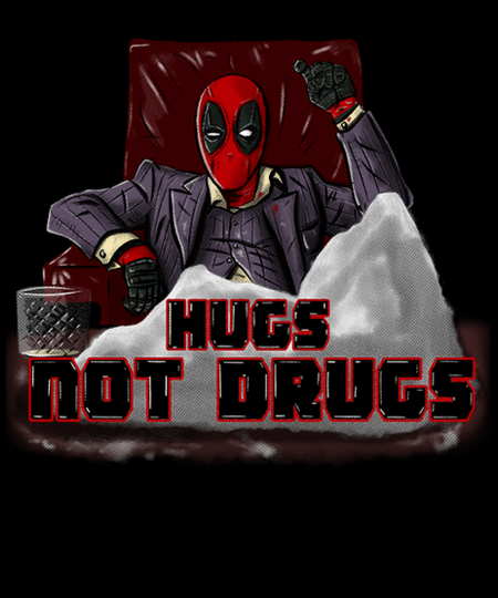 Qwertee: hugs no drugs